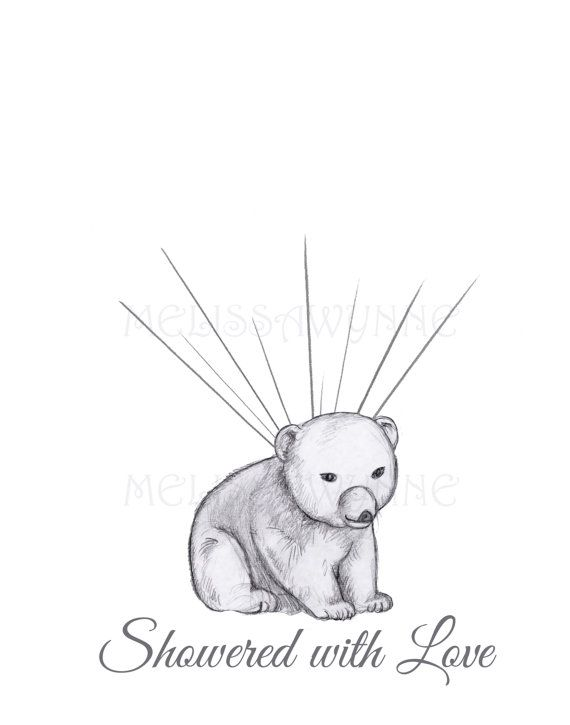Polar Bear Thumbprint GuestBook Alterntive by MelissaWynneDesigns