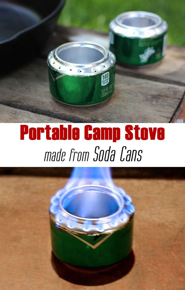 How To Turn Soda Cans Into A Portable Camp Stove