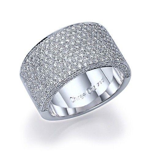 2 70 Carat 11mm Wide Band Micro Pave Diamond Wedding Anniversary Full Eternity Ring Pave Diamond Wedding Bands Wide Diamond Wedding Bands Diamond Wedding Bands