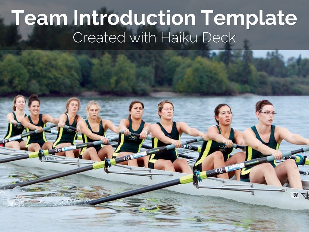 """Team Introduction Template"" - A Haiku Deck #setyourstoryfree"