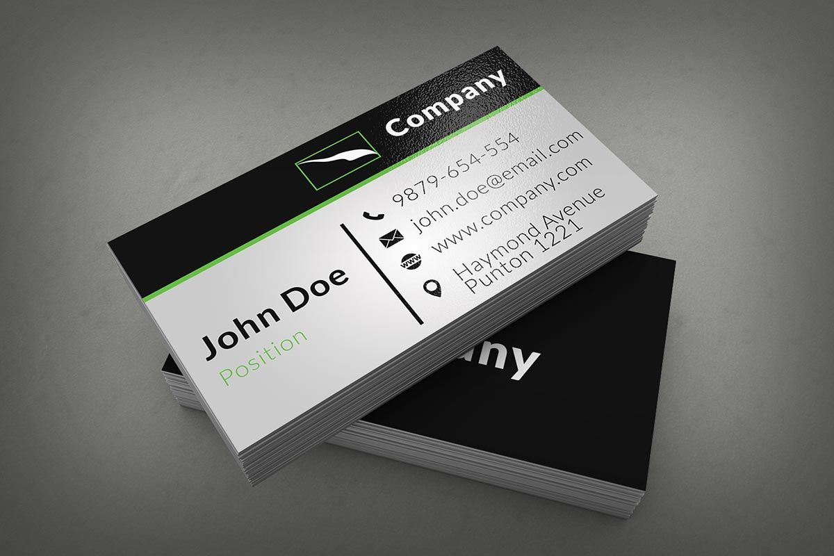 Clean corporate business card template on black and white name card template free business cards psd templates print ready design magicingreecefo Choice Image