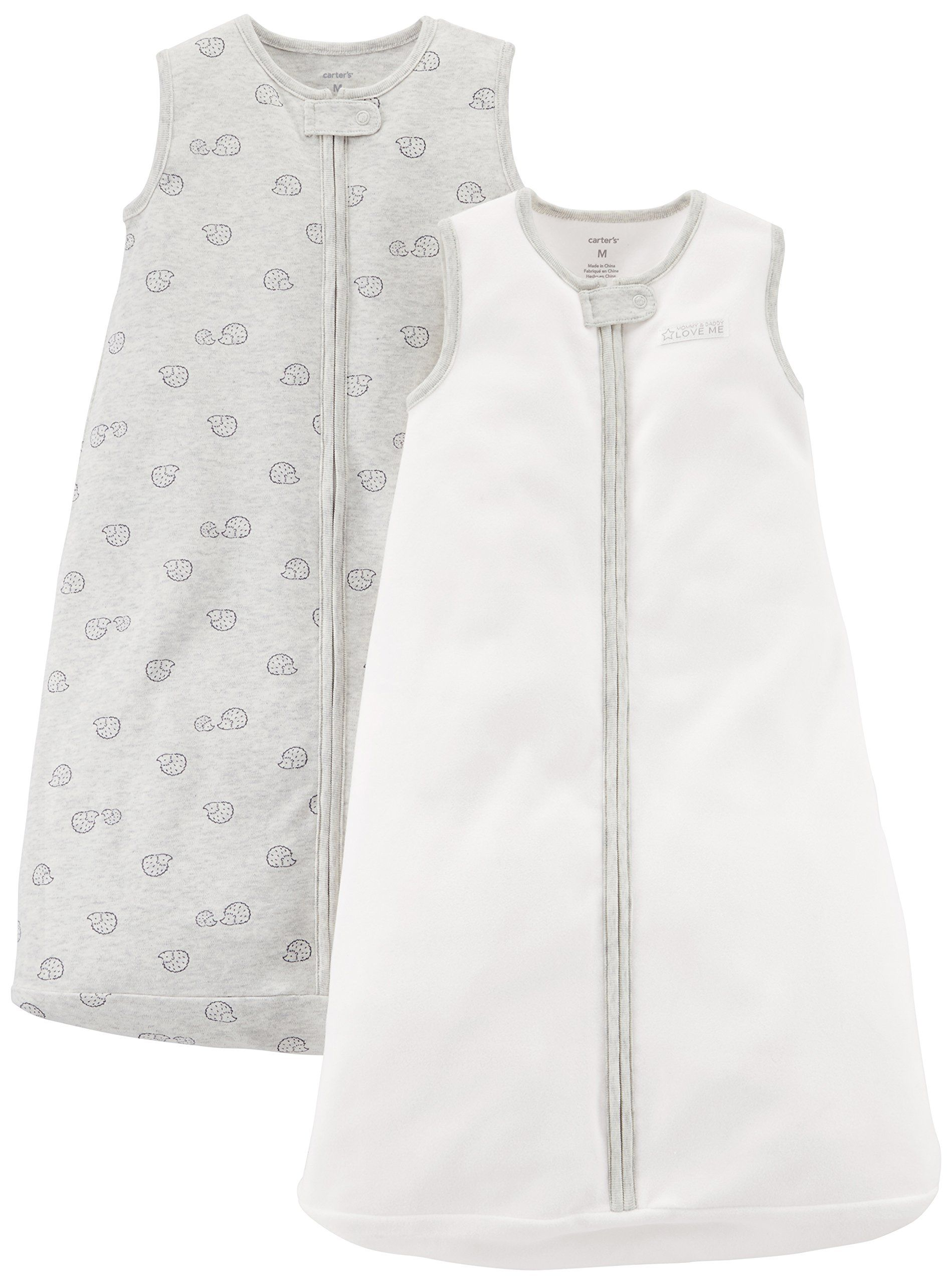 Simple Joys by Carters Baby Girls 3-Pack Cotton Sleeveless Sleepbag Wearable Blanket Pack of 3