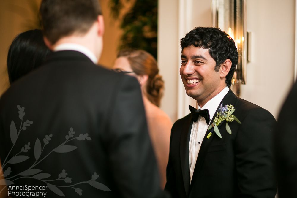 Groom Greeting Guests Receiving Line At A Wedding Reception At The