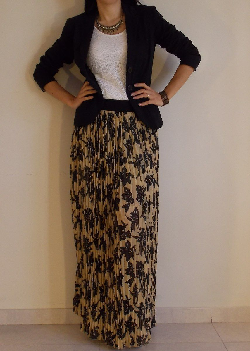 7ff0edbd56 falda pollera larga maxifalda plisada fiesta gasa