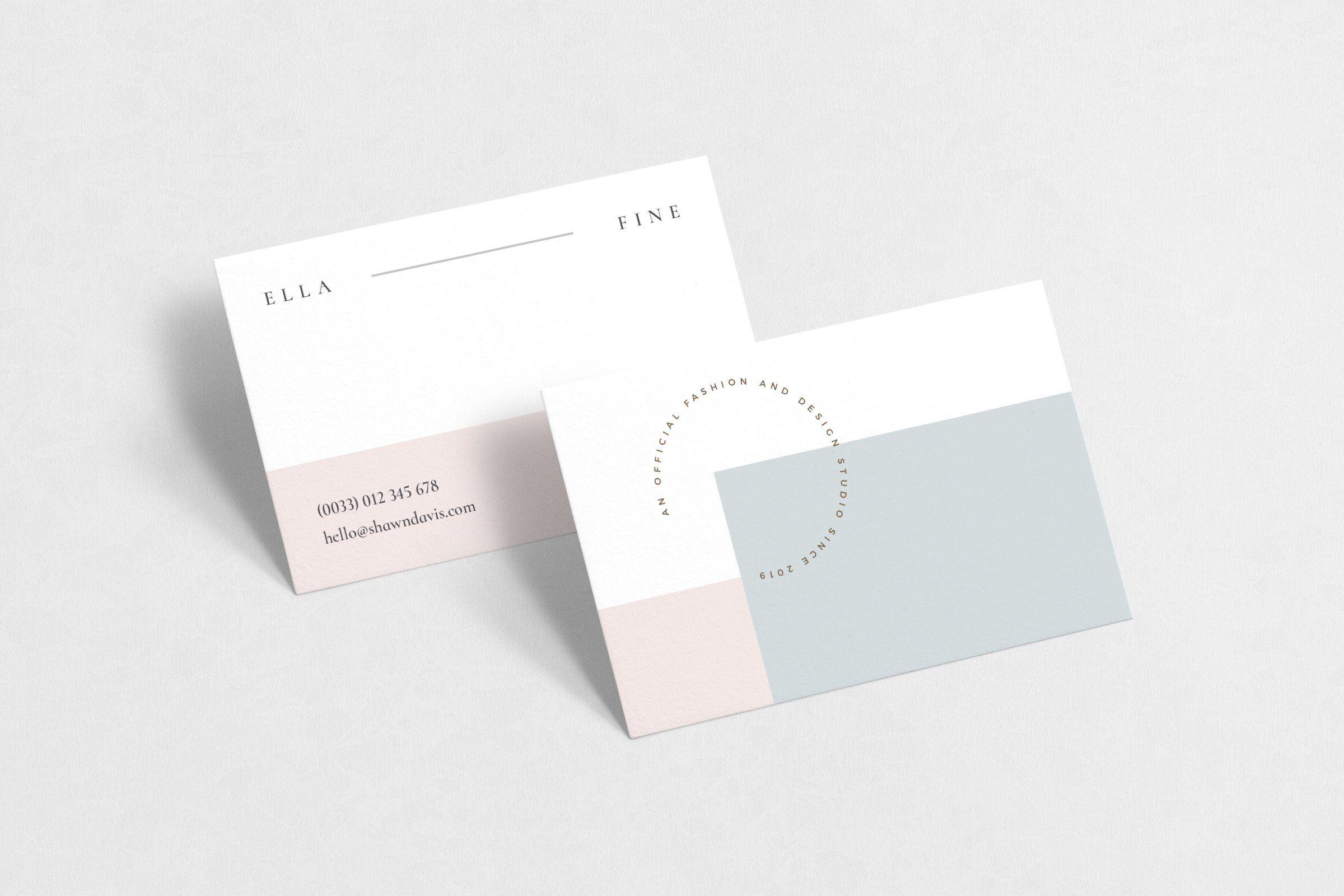Ella Fine Business Card Customizable Business Cards Templates Business Card Template Elegant Business Cards