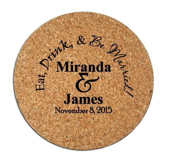 250 Cork Drink Coasters Custom Personalized Wedding By Factory21 167 01
