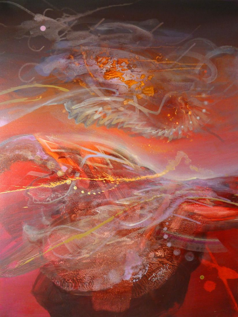 Konstantinbax Abstract Tryptich The Art Of Dennis Konstantin Bax