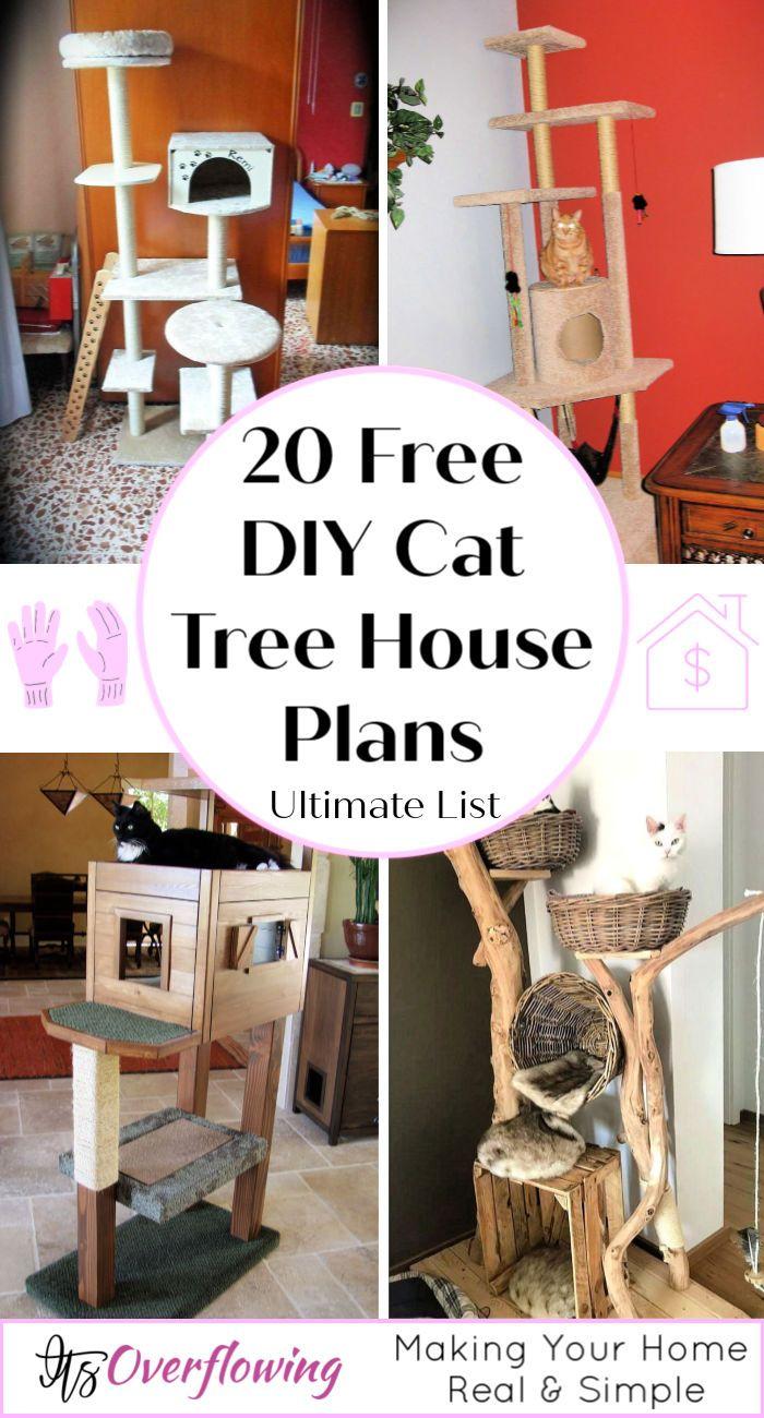 20 Free DIY Cat Tree House Plans