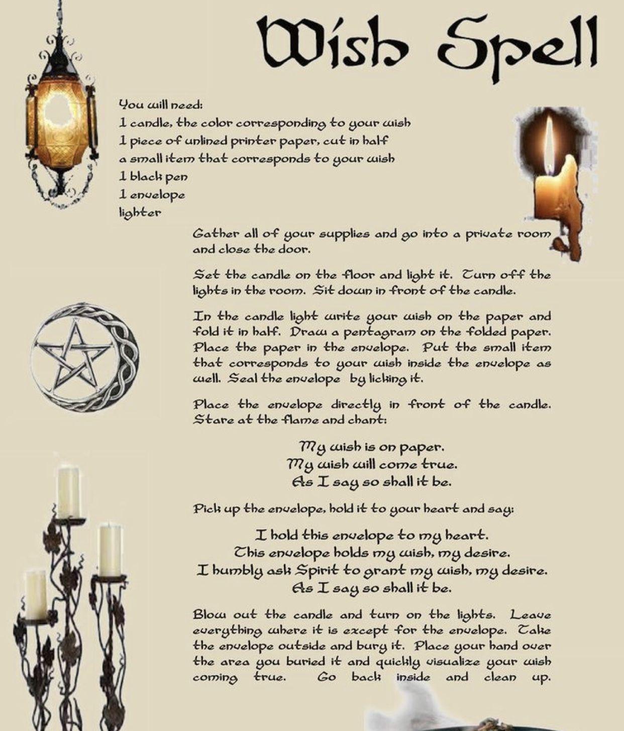 White Spells | Witchcraft | Spells | Magic | Wish Spells