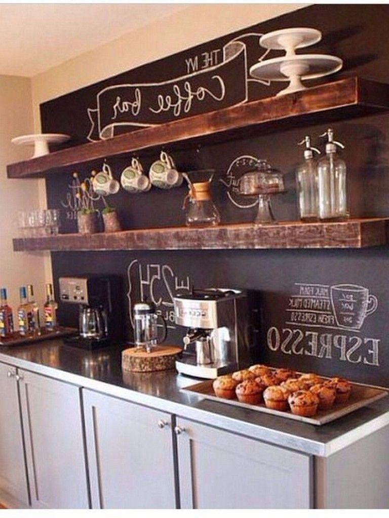 35+ Smart DIY Coffee Bar Design Ideas for Kitchen