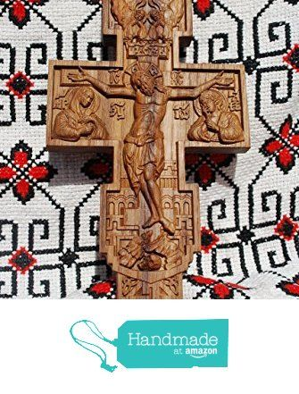 Cross Catholic Crucifix Durable unique christian gift Wood Carved ...