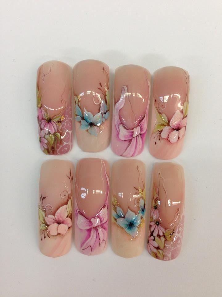 Nail art design on tips #nail #nailart