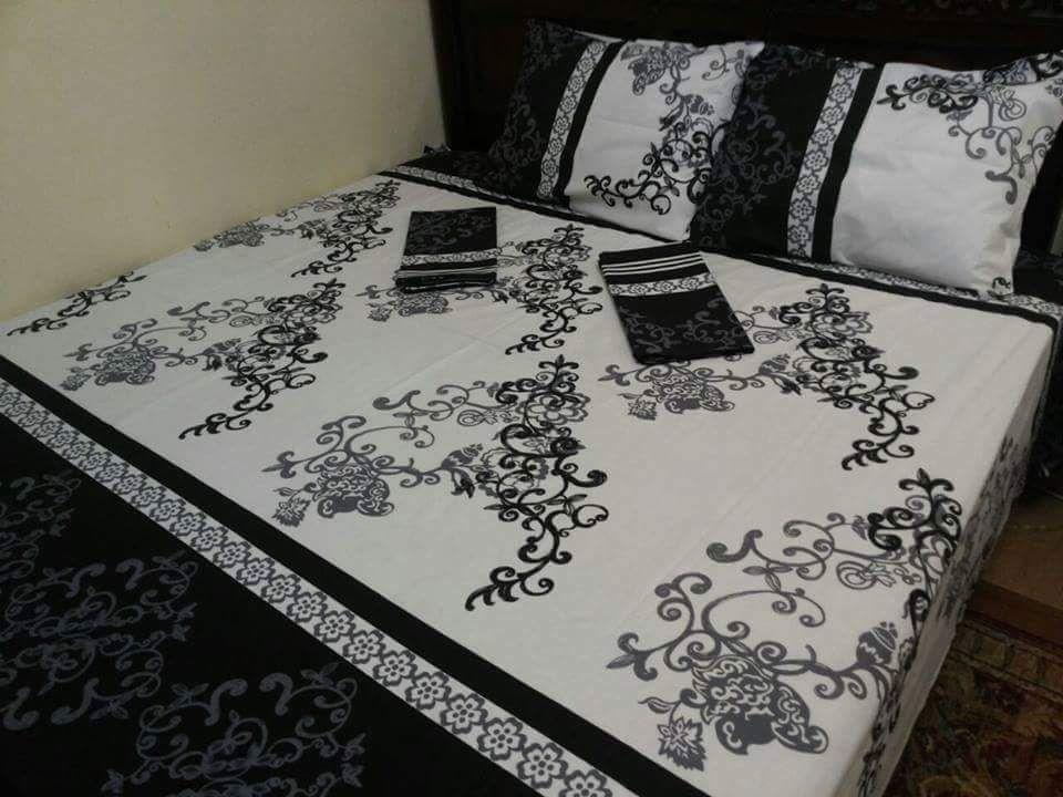 طقم سرير قطن العامرية 4قطع 50 شكل Bed Quilts Blanket
