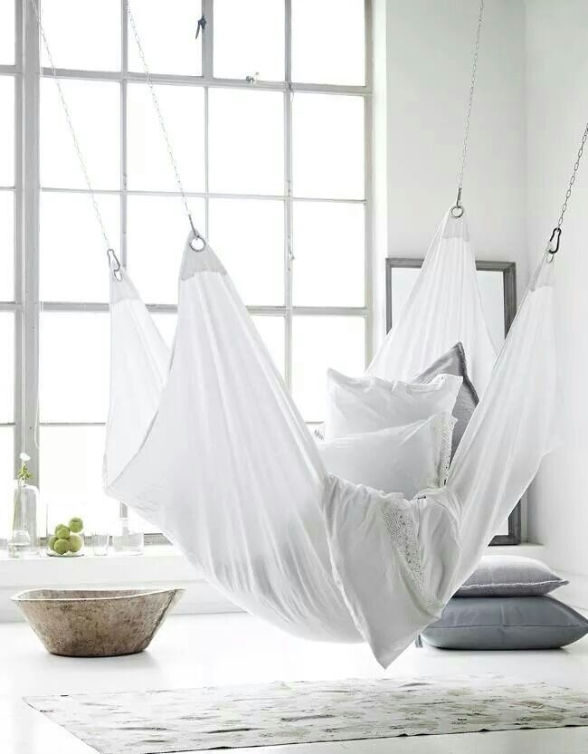 would you consider adding this white hammock to your living room space at home