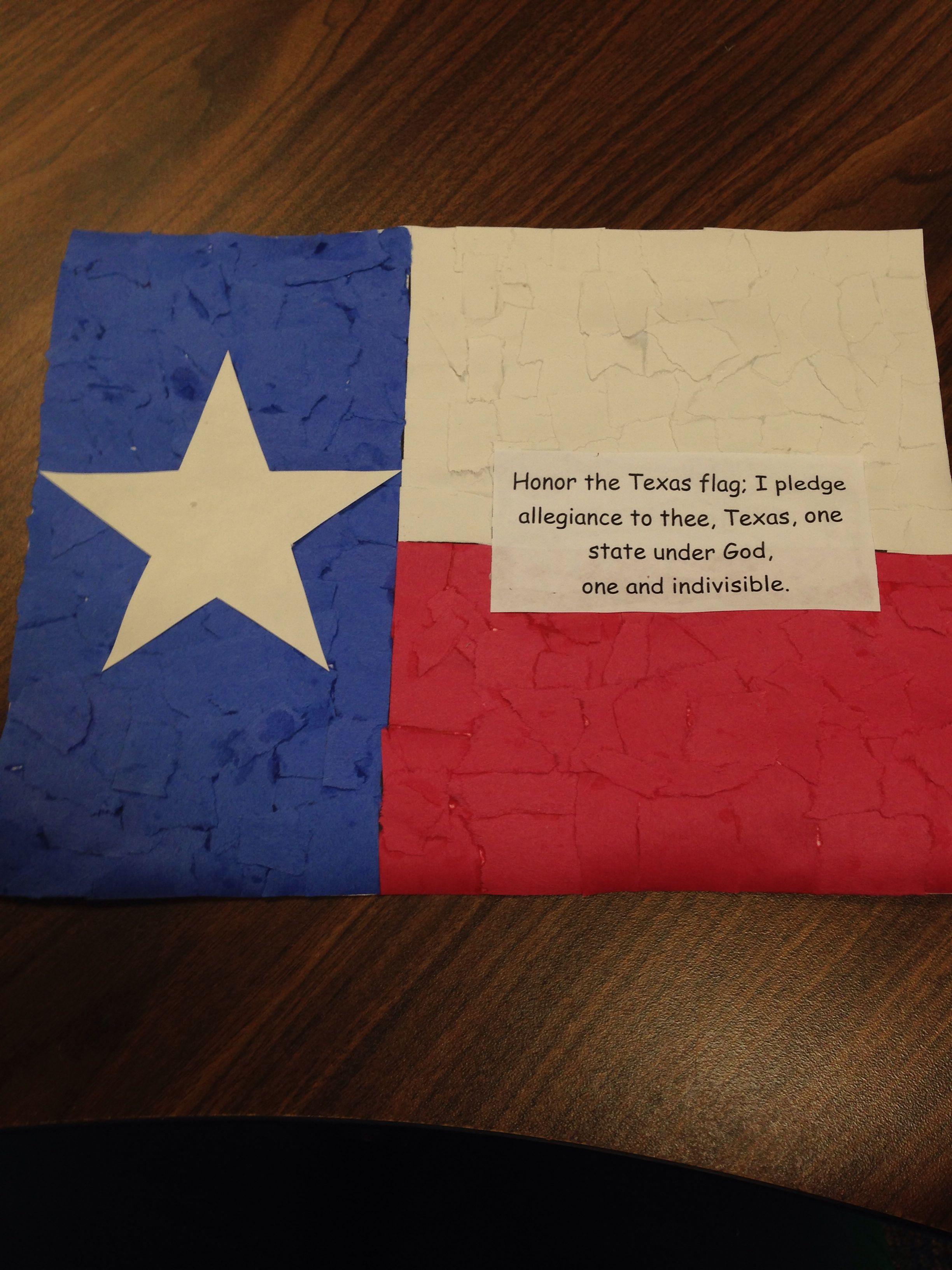 Tear Paper Texas Flag For Social Stu S