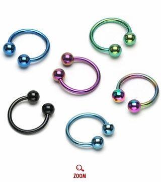 16 Gauge Horseshoe Rings I Like The Multi Colored Bestt