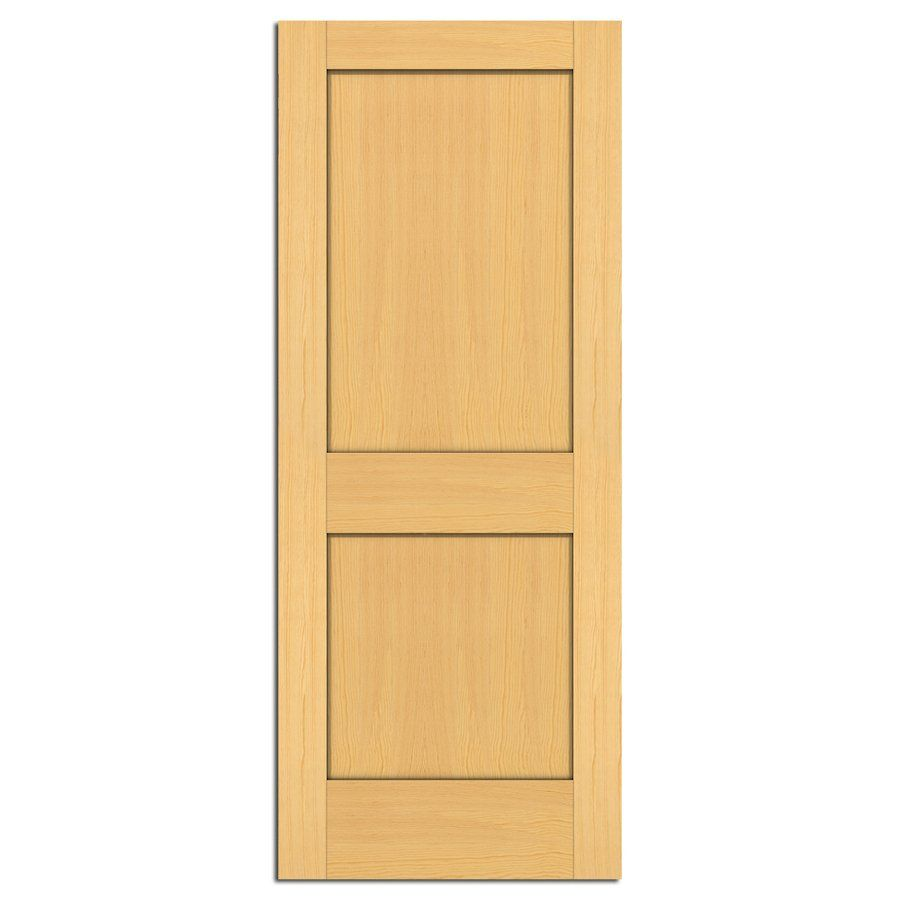 Shop Reliabilt 2 Panel Solid Wood Interior Slab Door At Lowes