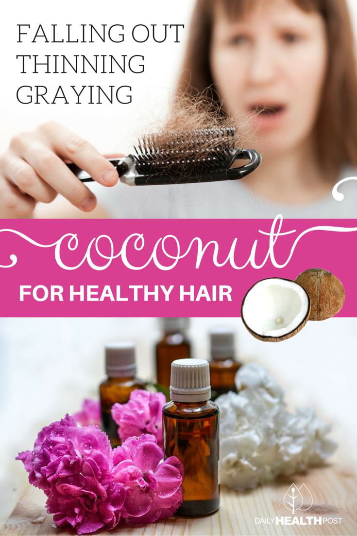 How To Put Coconut Oil In Your Hair To Stop It From Going Gray Thinning Or Falling Out
