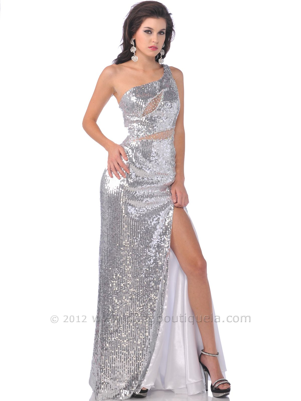 Homecoming Dresses | One Shoulder Full Sequin Prom Dresses, Prom ...