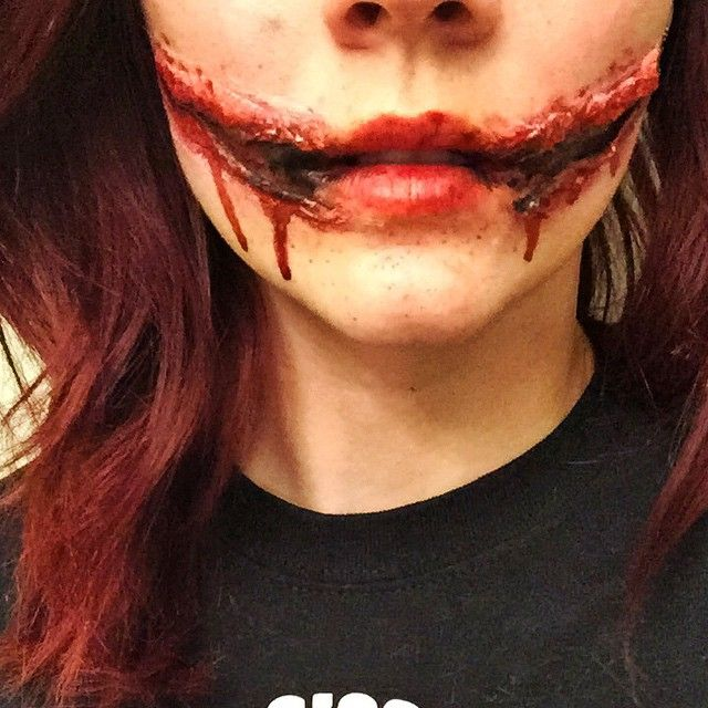 My Glasgow smile or Chelsea smile halloween makeup. | Halloween ...