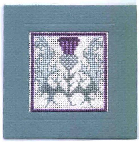Keyring Scottish Cross Stitch Kit; /'MacKintosh Rose/' by Textile Heritage