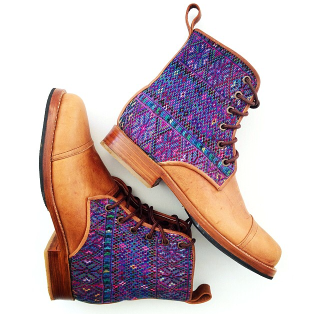 Teysha Leather and Textile Boots Handcrafted in Guatemala