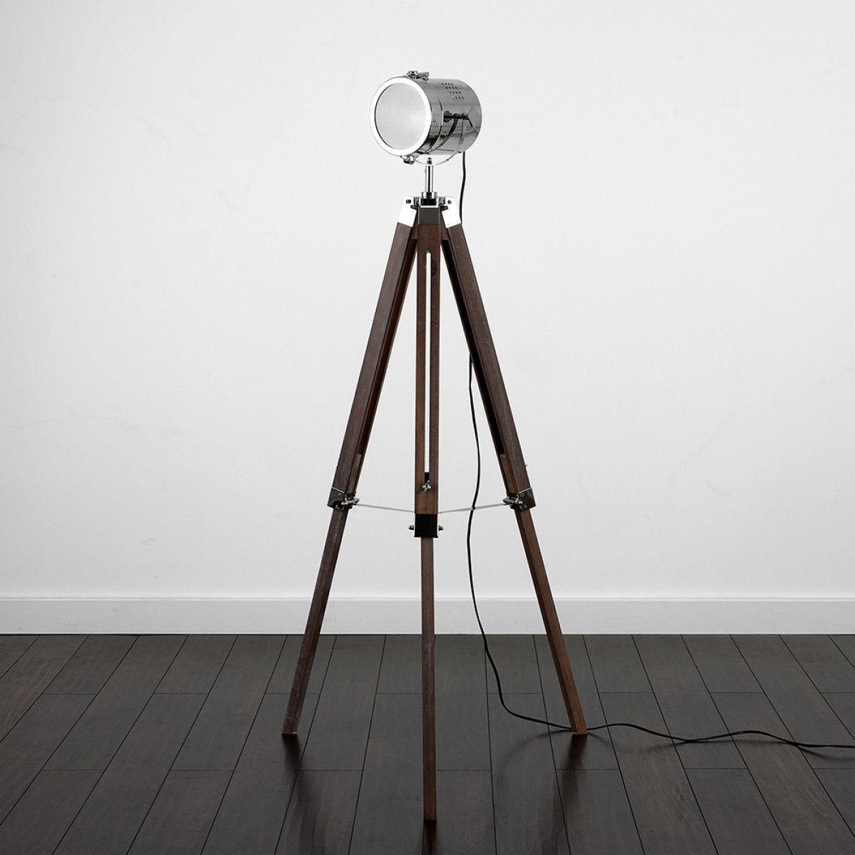 Fernandez Marine Dark Wood Tripod Floor Lamp Floor Lamp Tripod Floor Lamps Adjustable Floor Lamp