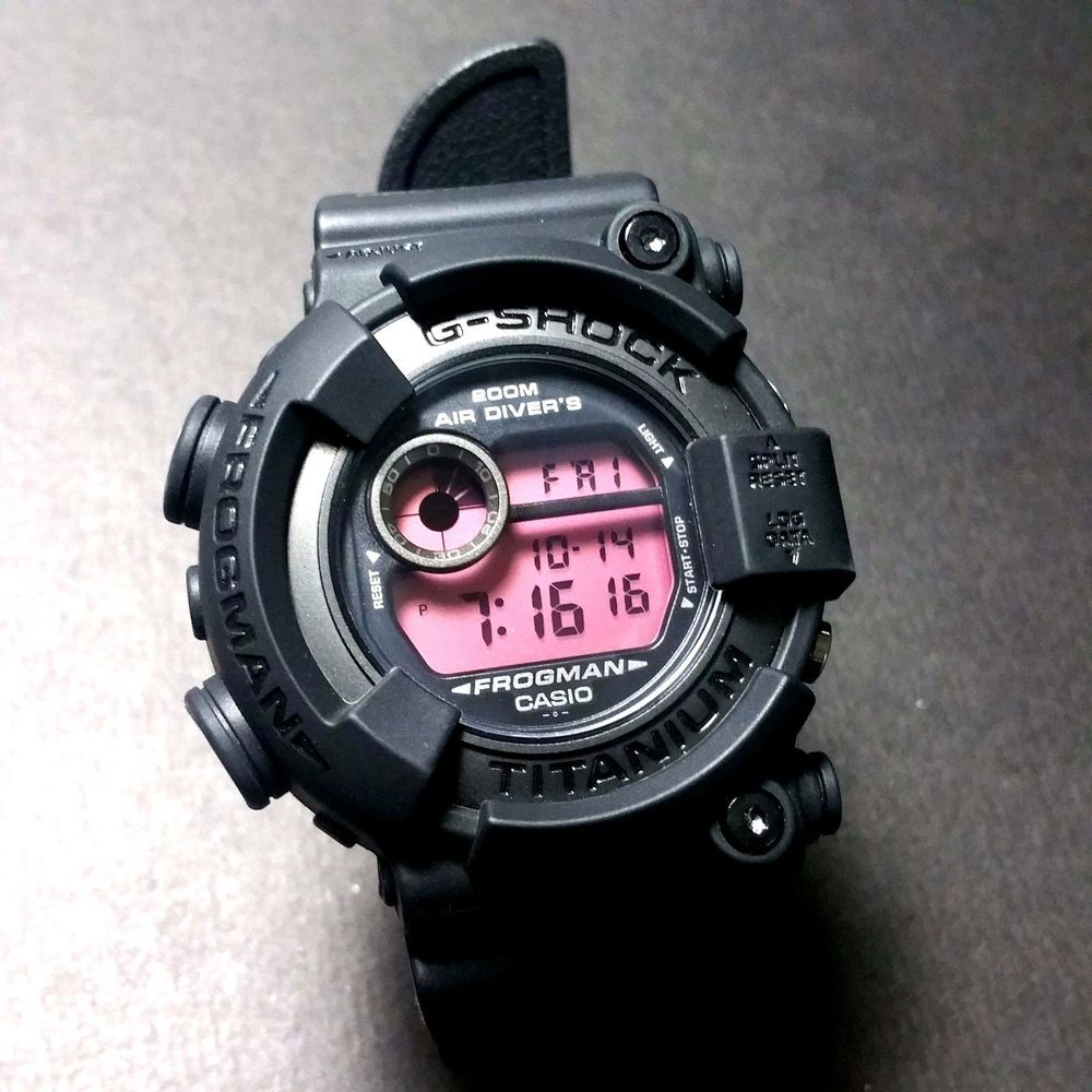 84ecec1ee8b G-SHOCK RARE FROGMAN DW-8200BK-1JF WITH ORIGINAL G-SHOCK WATCH BOX  GSHOCK   RAREFROGMAN