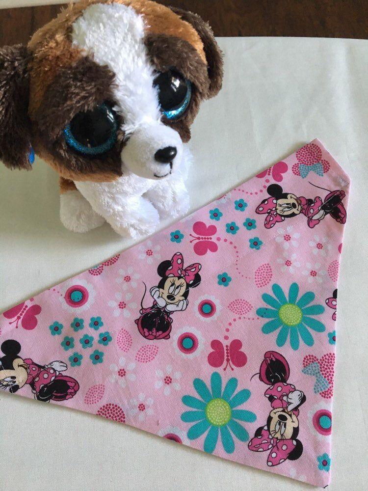 Minnie Mouse, Dog Bandana, Disney, Pet Bandana, Animal