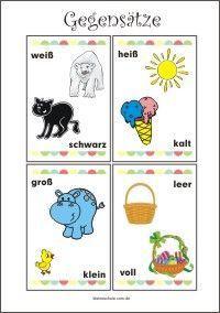 gegensätze - lernkarten für vorschule und grundschule   lernkarten, lernkarten für kinder, vorschule