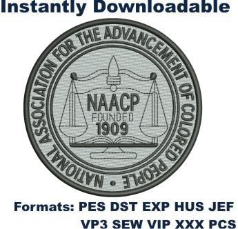 Naacp Founded Logo Embroidery Design Embroidery Logo Stethoscope Embroidery Design Cross Embroidery Designs