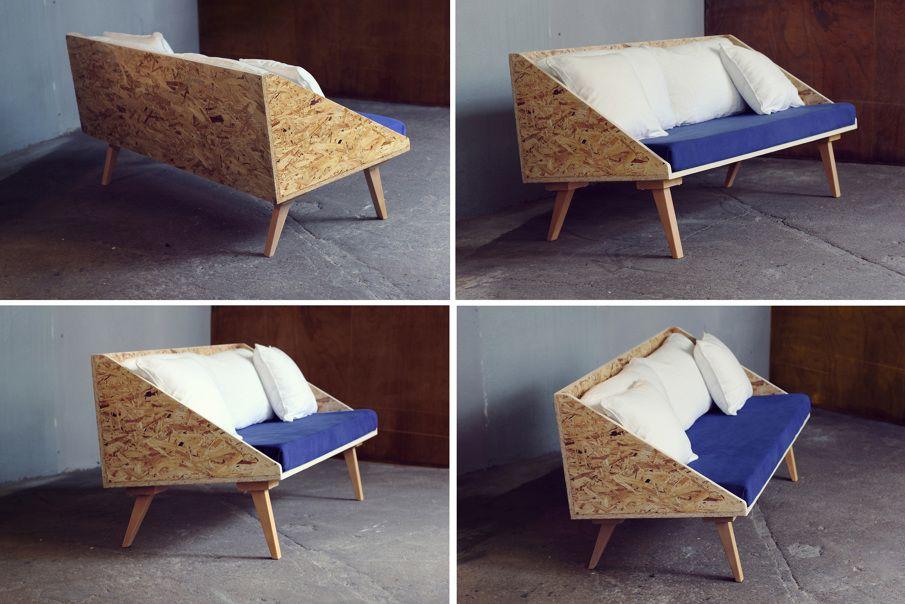 petit canap deux places pieds en h tre massif structure. Black Bedroom Furniture Sets. Home Design Ideas