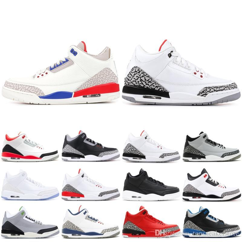 3 3s Mens Basketball Shoes 2019 New Mocha Charity Game Pure White Infrared  Fly Black III ef14010c9