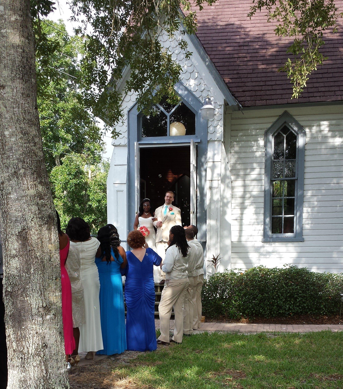 Andrews Memorial Chapel Wedding Ceremony Near Downtown Dunedin Non Denominational With