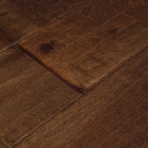 Show Details For Bausen Timberline Pecan Birch 6 1 2 Dark Brown Red Hardwood Wide Plank Handscraped Hardwood Engineered Wood Floors Polyurethane Floors