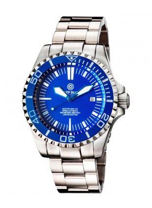 5d587a43000 Deep Blue MASTER 2000 Automatic Diver Swiss ETA 2824-2 Blue bezel ...