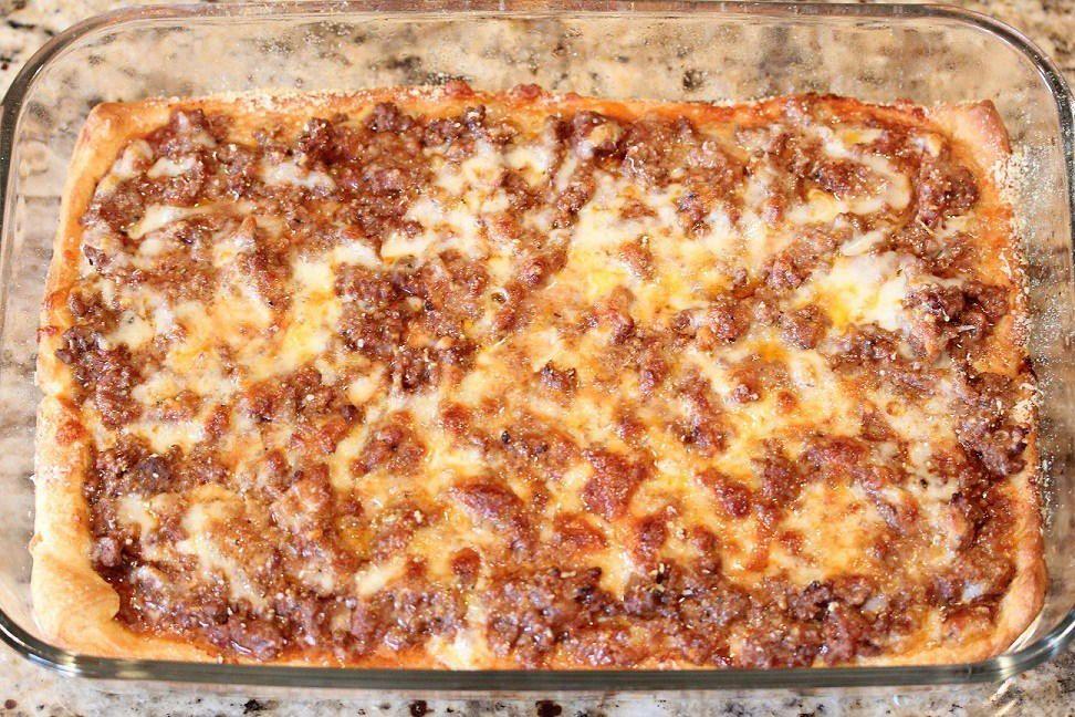 Easy Deep Dish Pizza Casserole Food Recipes Pizza Casserole Food