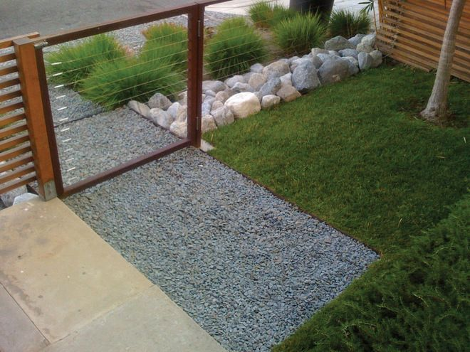 Modern Front Yard See Through Fence Google Search