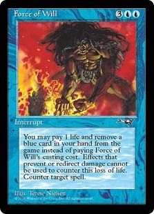 force of will pitch a card for a cheap counterspell sure it s a 2