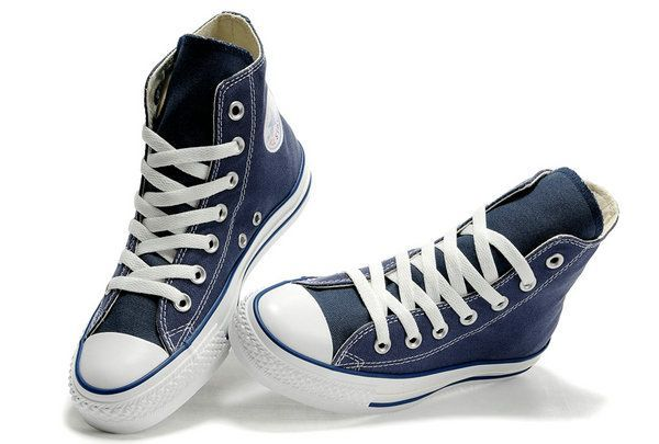 24a94b0d12425a Navy High cut Converse