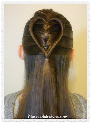 Elastic Braid Twist Heart Hairstyle Tutorial For Valentine S Sac