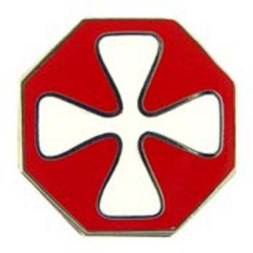 PinMart Rhinestone US Army Military Brooch Pin