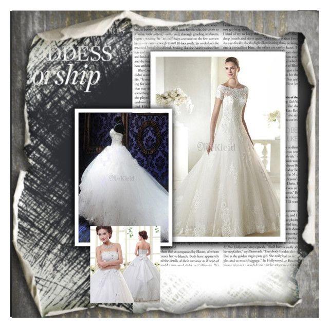 Luxus Brautkleider by mekleidde on Polyvore featuring Herz