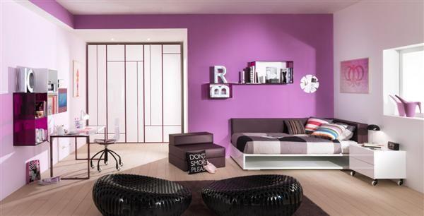 chic violet teen bedroom - Violet Teen Room Interior
