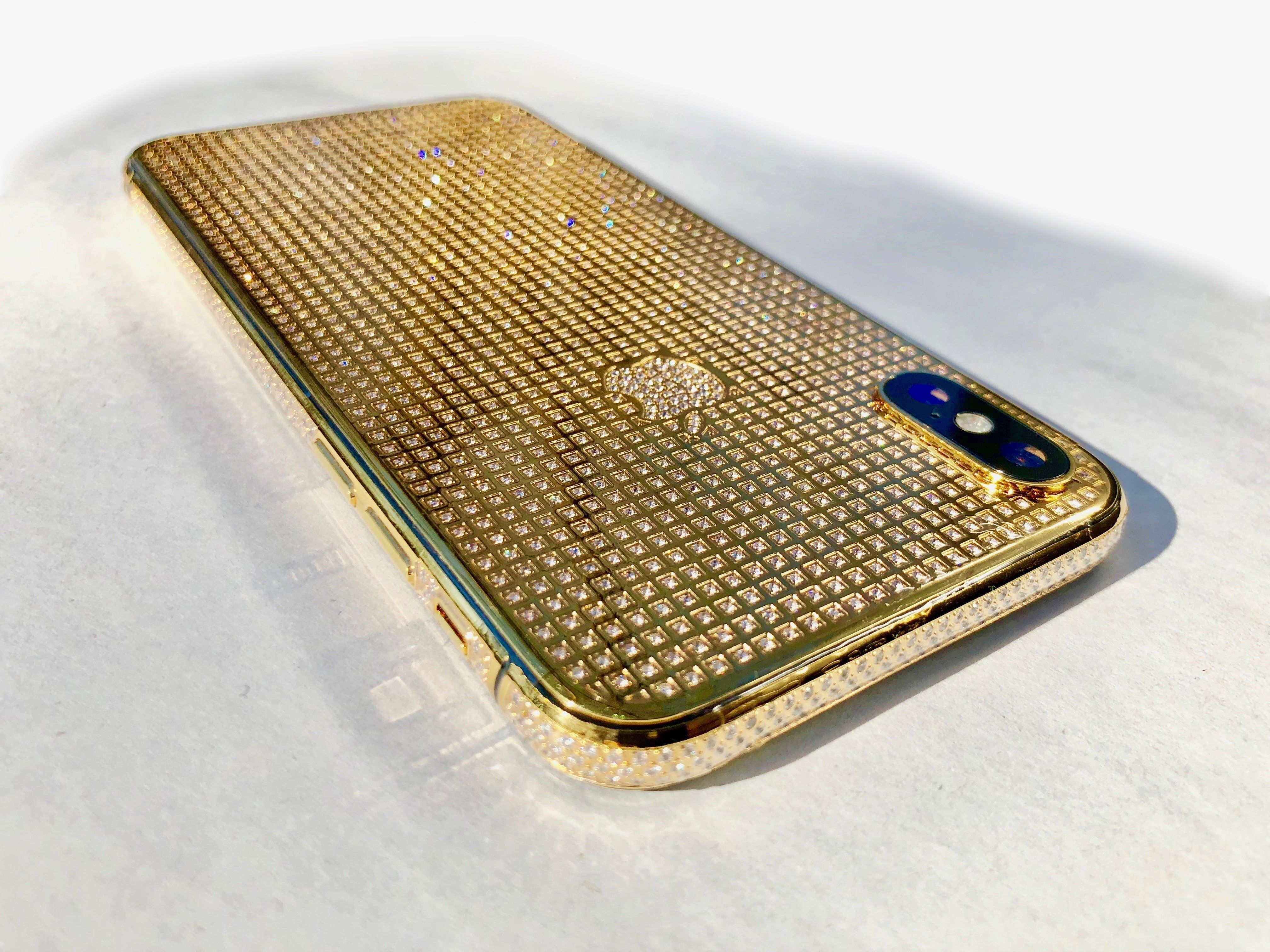 0991584a12d9b iPhone Xs Max 24K Gold Crystal | Limited Edition in 2019 | Phone ...