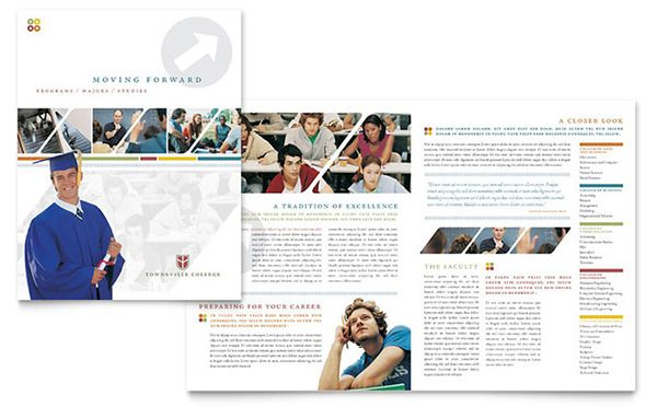 brosur sekolah college university brochure template design