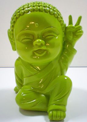 New LIME BABY PEACE THAI BUDDHA Happy Asian Fun Zen Kids Dorm Room Home  Decor