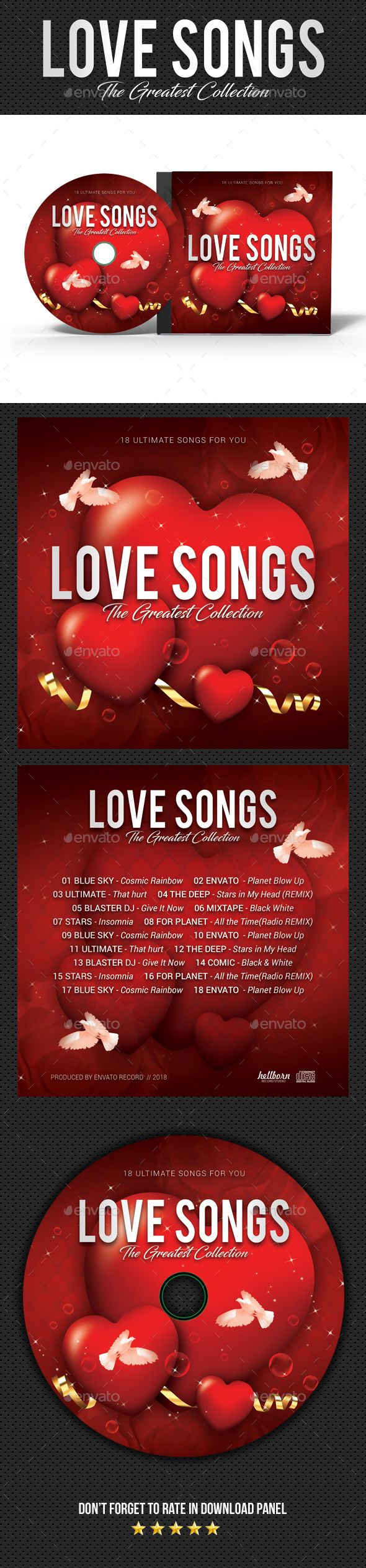 love songs cd cover template psd cd dvd cover templates