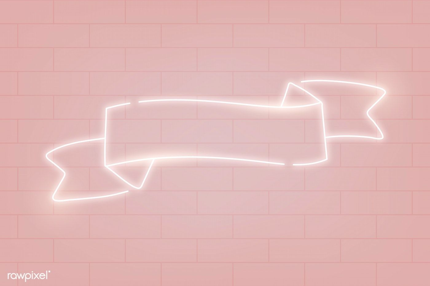 Download Premium Vector Of Neon Banner On A Pink Background Vector 843062 Youtube Banner Backgrounds Youtube Banner Design Youtube Banners