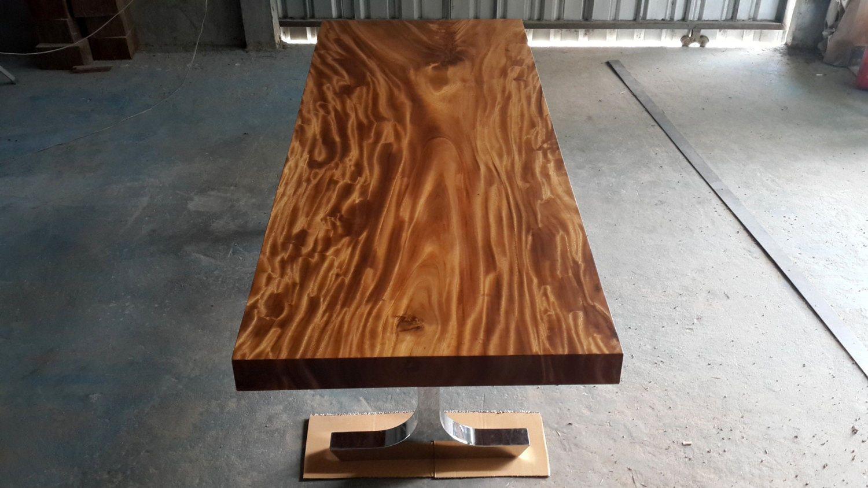 Straight Edge Dining Table Acacia Wood Single Slab In 2019